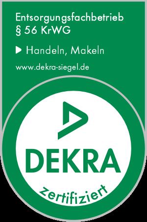 Entsorgungsfachbetrieb Dekra zertifiziert